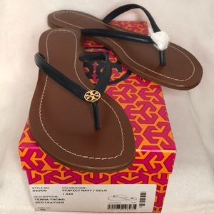 🆕Tory Burch Terra Thong Veg Leather Sandals